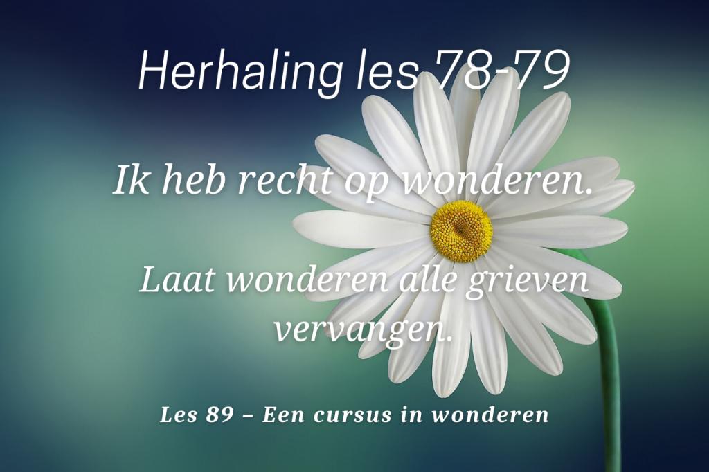 Een cursus in wonderen les 89